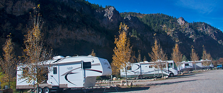 RVs in a row
