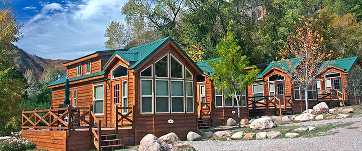 resort cabins located at upper end of resort